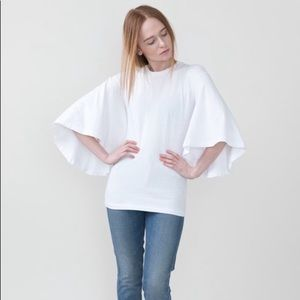 Citizens of Humanity White Flutter Sleeve Top med